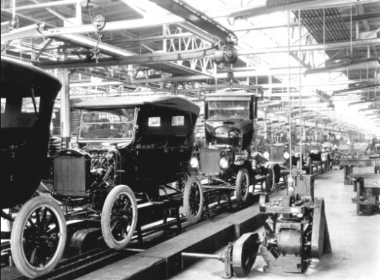 Fords Assembly Line Starts Rolling
